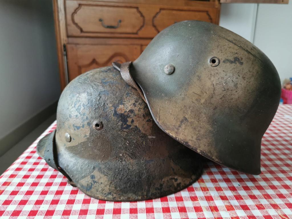 Petite rentrée de casques allemands : M35 camo  Img_2075
