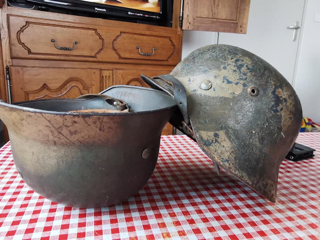 Petite rentrée de casques allemands : M35 camo  Img_2077