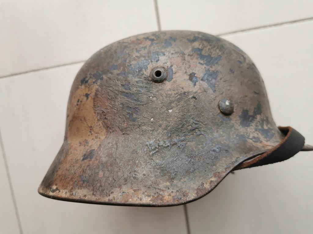 Petite rentrée de casques allemands : M35 camo  Img_2078