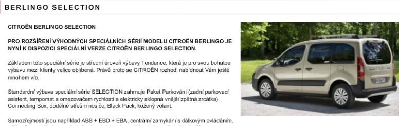 [SERIE SPECIALE] [CZ] Berlingo Selection T144610