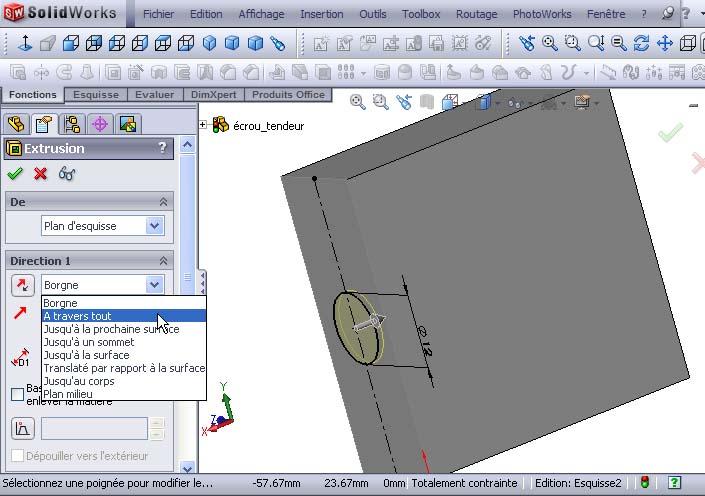 Débuter avec SolidWorks 02-0810