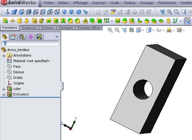 Débuter avec SolidWorks 02-1010
