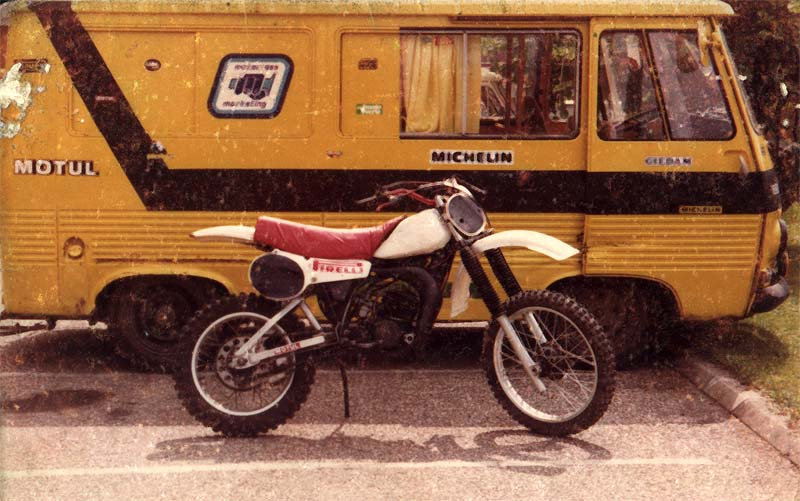 Motos tout terrain, années 80 125yzj10