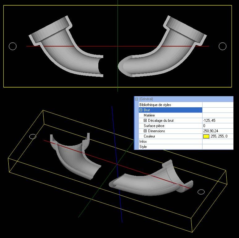 [CamBam] Travaux pratiques 2 - Usinage 3D et 3D double face Bruttr10