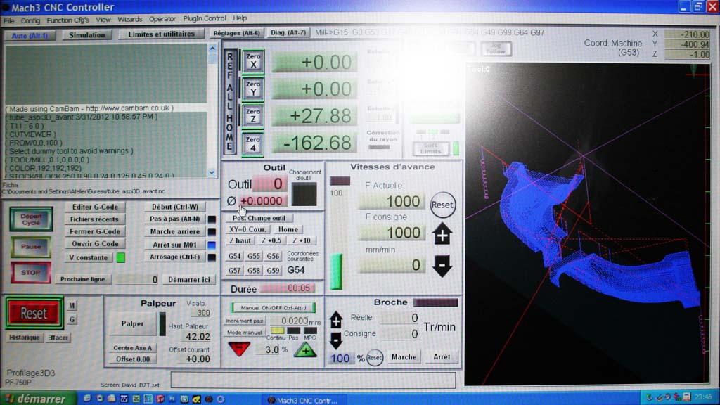 [CamBam] Travaux pratiques 2 - Usinage 3D et 3D double face Mach_f10