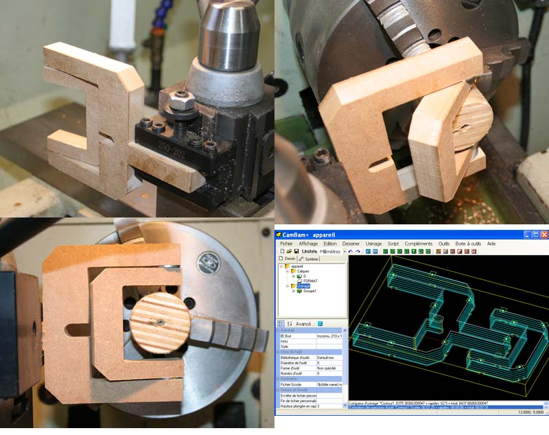 Fabrication d'un appareil à tourner les sphères Maquet10