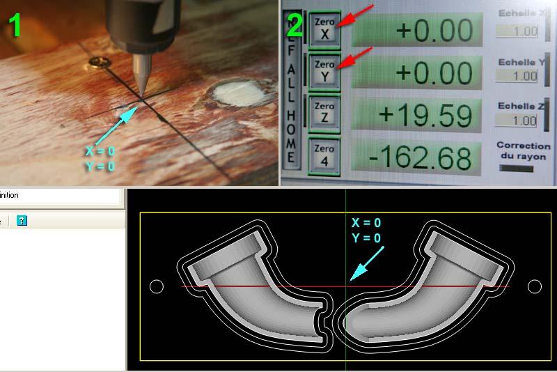 [CamBam] Travaux pratiques 2 - Usinage 3D et 3D double face Razxy10