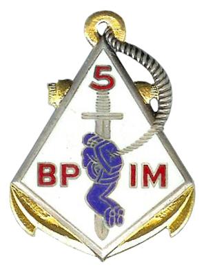 5e BCCP - 5e bataillon parachutiste d'infanterie coloniale  Insign10