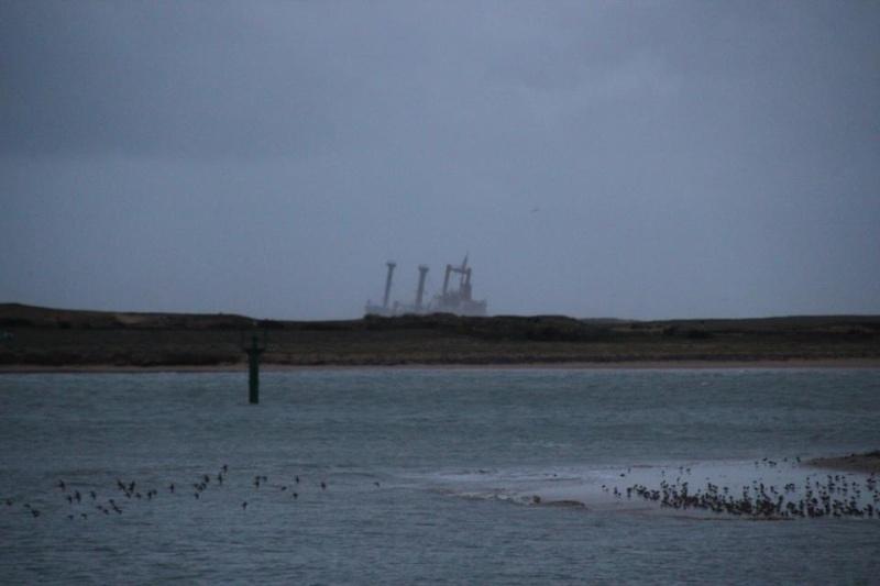 Cargo échoué à ETEL, pollution sur les plages ... Mazout10
