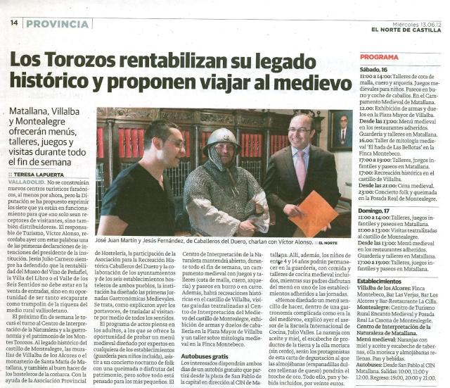 Evento Medieval en Matallana Villalba de los Alcores y Montealegre. Nota_d10