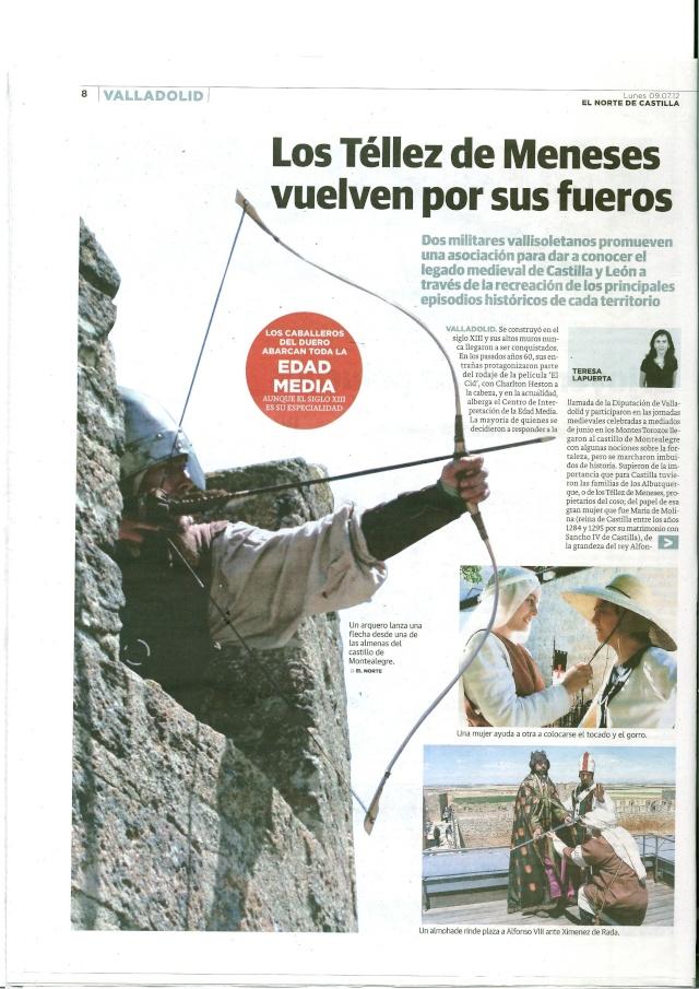 Reportaje sobre CDD y los Tellez en el Norte de Castilla  Recort10