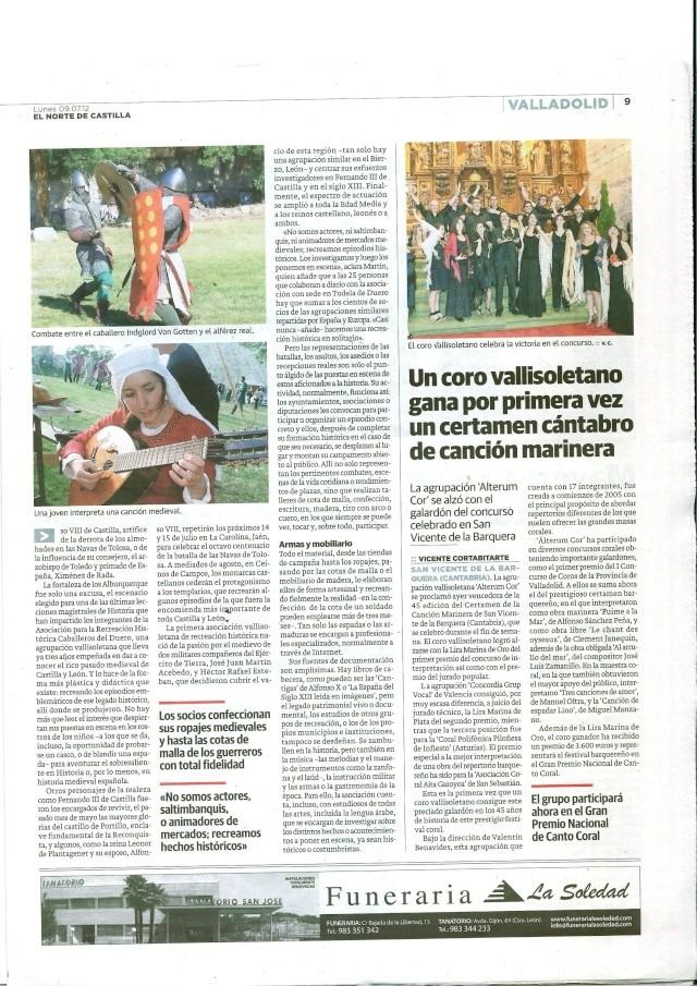 Reportaje sobre CDD y los Tellez en el Norte de Castilla  Recort11