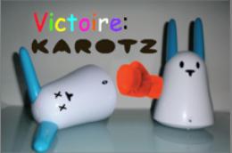Karotz contre Nabaztag:tag: le match du siècle 2_vict10