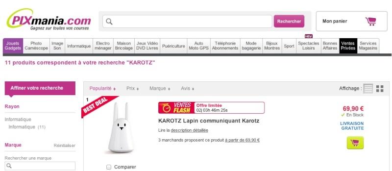 Soldes d'hiver sur le site Karotz.com Captur10