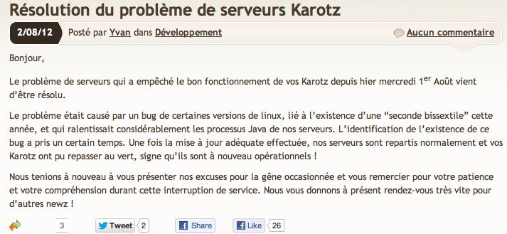 Karotz rouge: épidémie de mixomatose sur les serveurs Karotz Image214