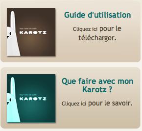 Guides d'utilisation et Que faire avec mon Karotz Image_61