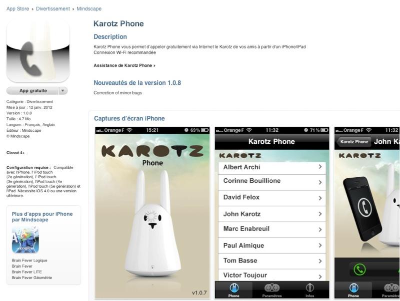 questions avant achat nabaztag ou Karotz occasion Karotz16