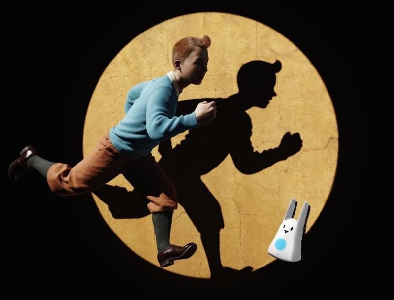 Karotz : Rendez-vous sur Facebook; une surprise samedi midi ! Tintin10