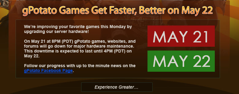 gPotato Games Get Faster, Better on May 22 Bx212