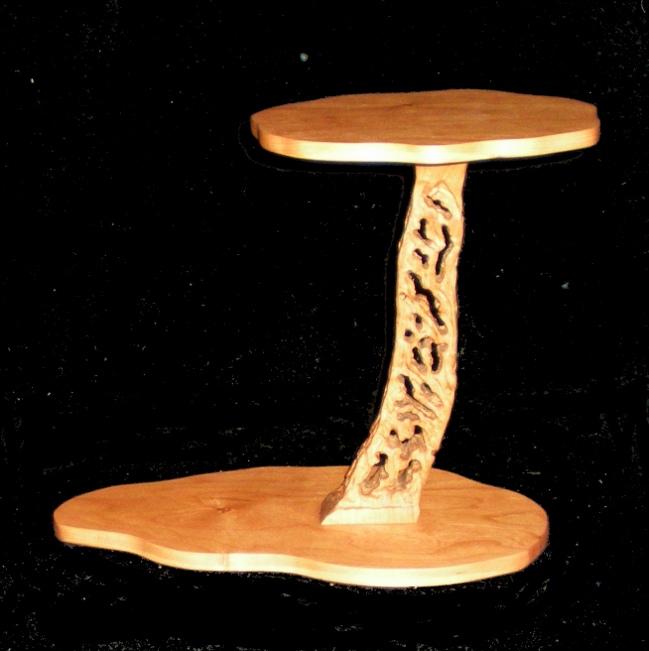 Hand carved cherry pedestal/cascade stands Cpedmc10