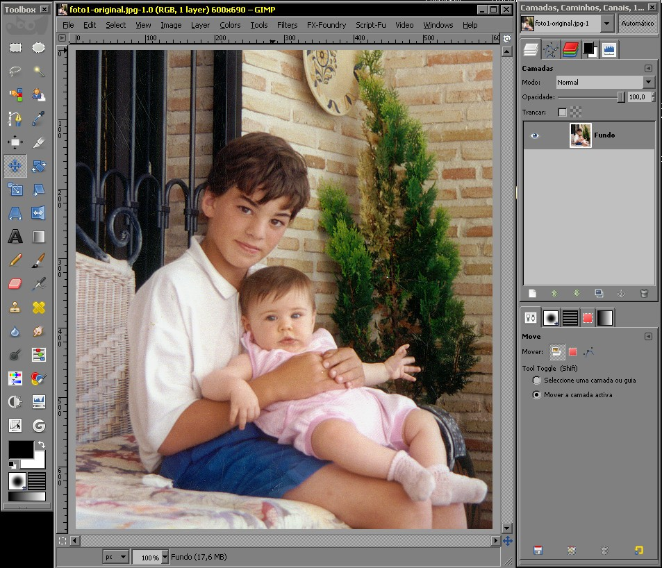 RETIRAR FUNDO DE UMA FOTO NO GIMP Foto1-11