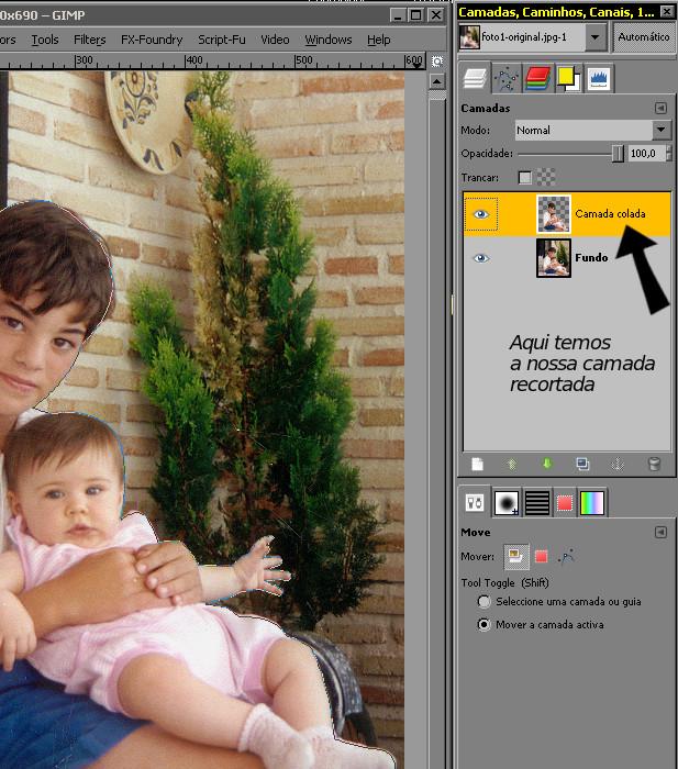 RETIRAR FUNDO DE UMA FOTO NO GIMP Paso1110