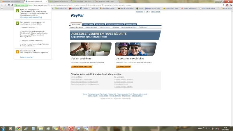 Paypal mesure de sécurité Certif10