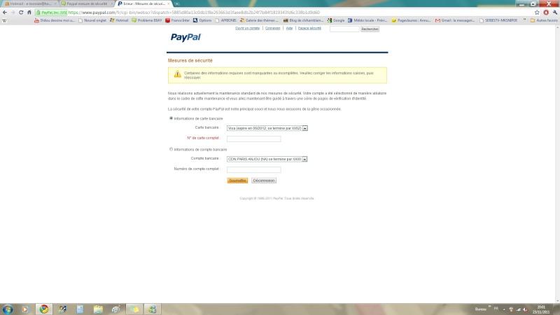 Paypal mesure de sécurité Paypal10