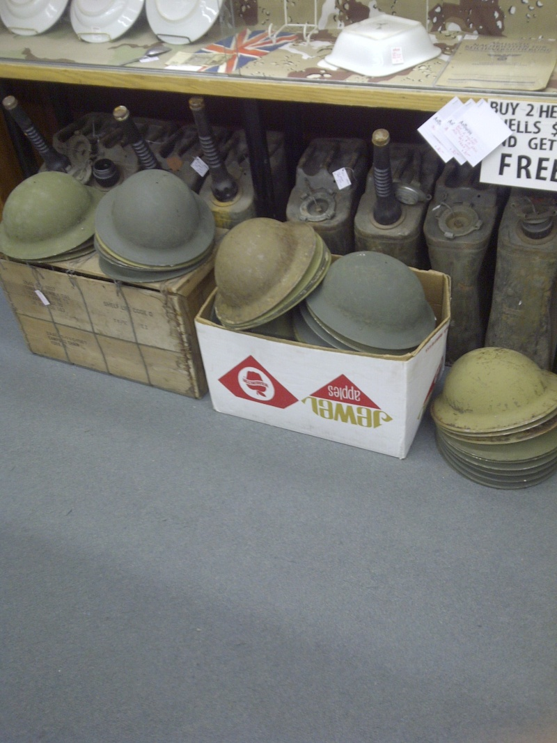 WW II Canadian Helmet Stash Found In Quebec Woolwi10