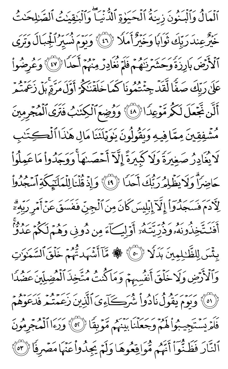 سورة الكهف من مصحف المدينة النبوية Page2916