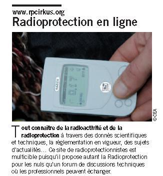 """Vu dans le magazine """"Les défis du CEA""""n°165 Defis110"""