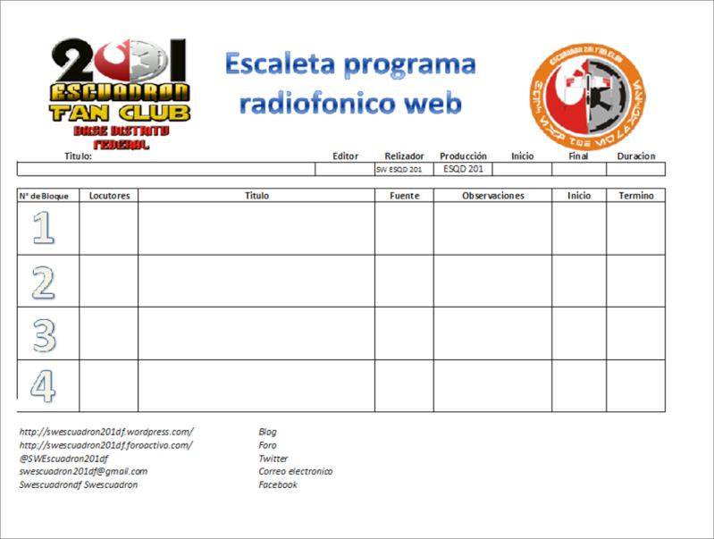Escaleta Radio Escuadron 201 Escale10