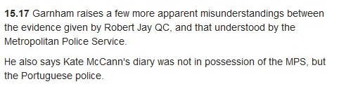 Leveson Inquiry - Statement by Sherborne Re McCanns, Jefferies (MERGED) Diary10