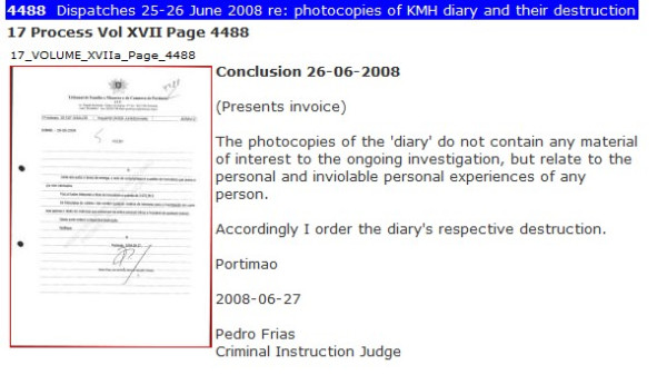 Leveson Inquiry - Statement by Sherborne Re McCanns, Jefferies (MERGED) Diary210