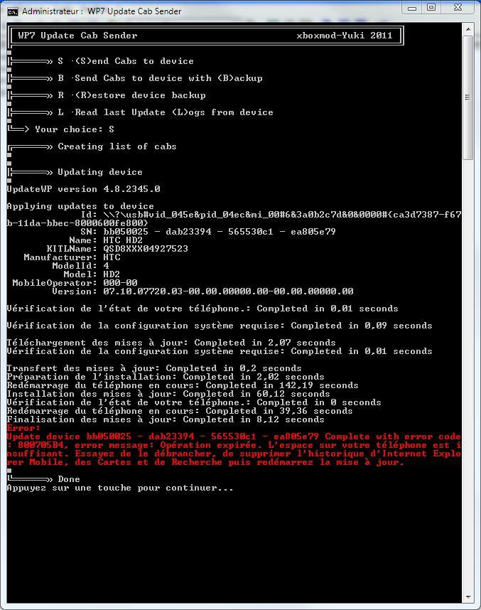 [AIDE] erreur 800705B4 lors de mise a jour Captur10