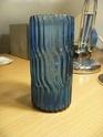Moulded blue vase. P1000615