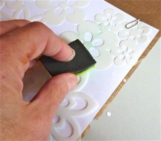 Fond de page complet: mask et encres aquarellables à encreur P1090824