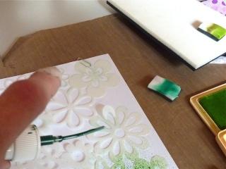 Fond de page complet: mask et encres aquarellables à encreur P1090829