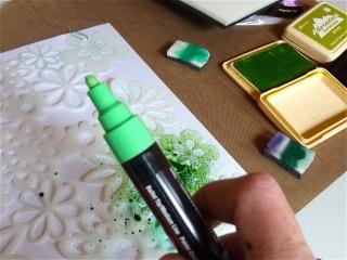 Fond de page complet: mask et encres aquarellables à encreur P1090832