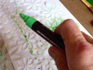 Fond de page complet: mask et encres aquarellables à encreur P1090833