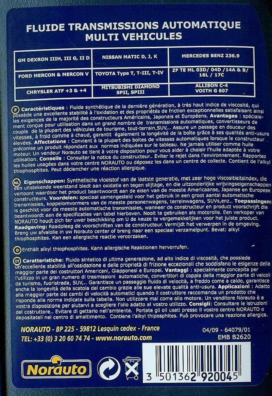 Vidange huile boite de vitesse Atf210