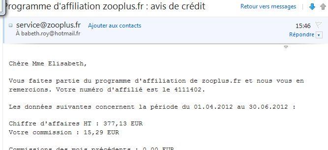 Bénéfices ZOOPLUS Zooplu10