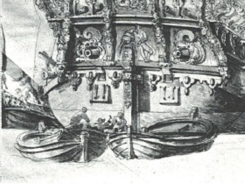 les supports sous la quille qui maintiennent une chaloupe dans les plus grandes Antelo10