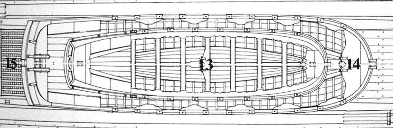 les supports sous la quille qui maintiennent une chaloupe dans les plus grandes Dscn3012