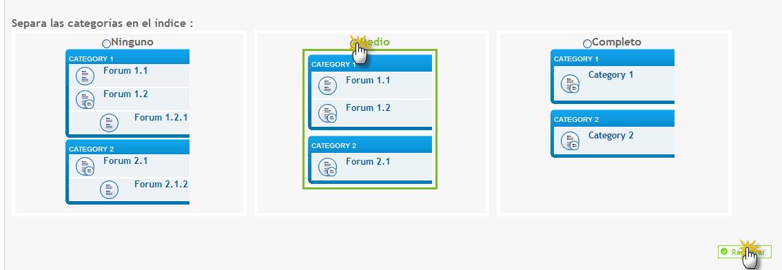 Categoría de 4 foros en 2 líneas 4lin1010