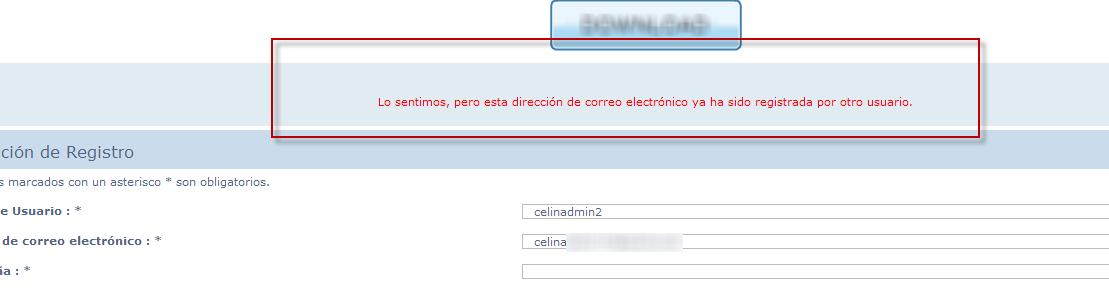 Registrar varios usuarios con un mismo email 800110