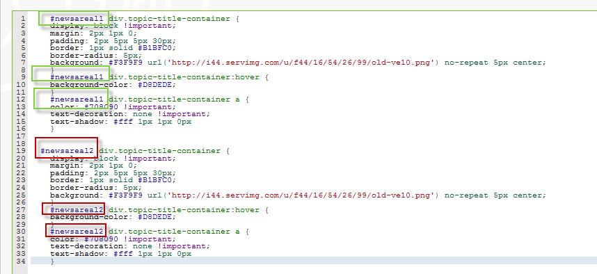 Widgets que contienen cada uno los ultimos temas de un foro escogido Tuto3210