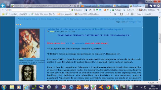 Lettre ouverte à Octo, l'administrateur du forum VSJ Alain_12