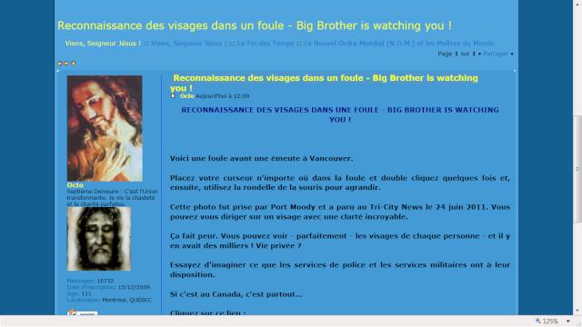 Lettre ouverte à Octo, l'administrateur du forum VSJ Visage10