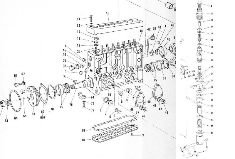 pompe  u00e0 injection en ligne 3 cylindres bosch